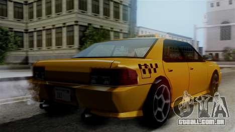 Sultan Taxi para GTA San Andreas esquerda vista