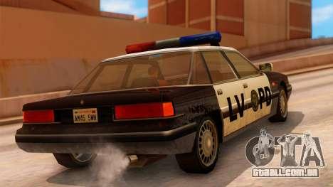 Police LV Intruder para GTA San Andreas esquerda vista