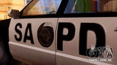 Police SA Premier para GTA San Andreas traseira esquerda vista