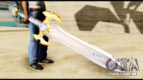 Espada do paladin para GTA San Andreas segunda tela
