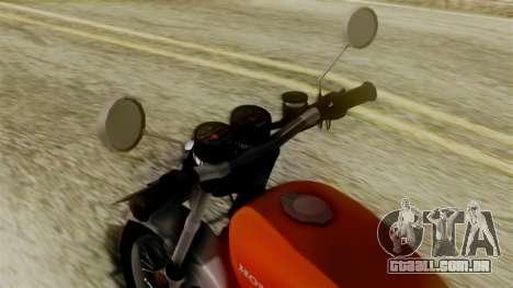 Honda CG 125 Classic para GTA San Andreas traseira esquerda vista