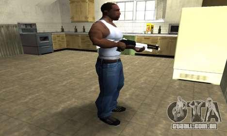 White with Black Shotgun para GTA San Andreas terceira tela