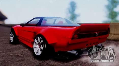 Honda NSX para GTA San Andreas esquerda vista