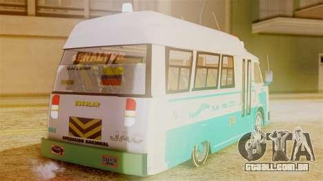 JAC Microbus para GTA San Andreas esquerda vista