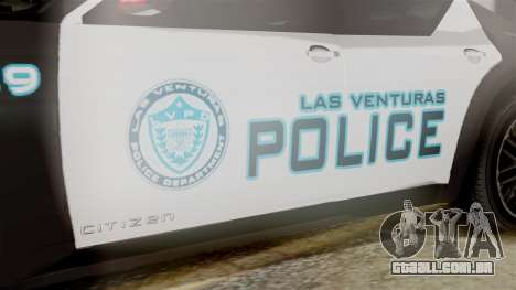 Hunter Citizen from Burnout Paradise Police LV para GTA San Andreas vista direita