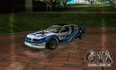 BMW M3 E46 ToyoTires GT-SHOP para GTA San Andreas