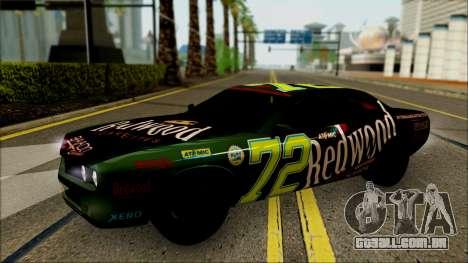 GTA 5 Bravado Gauntlet Redwood HQLM para GTA San Andreas vista traseira
