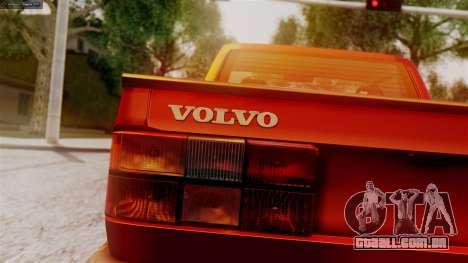 Volvo 940 A-traktor para GTA San Andreas traseira esquerda vista
