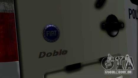 Fiat Doblo PPX para GTA San Andreas vista traseira
