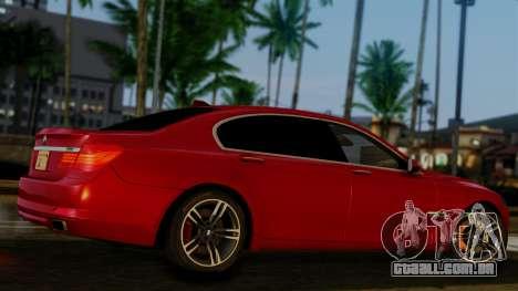 BMW 7 Series F02 2013 para GTA San Andreas vista traseira