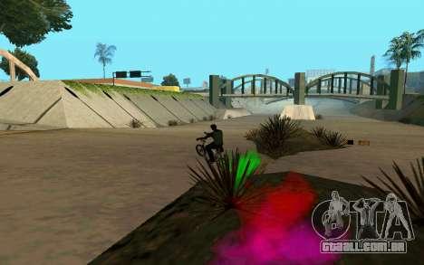 Bike Smoke para GTA San Andreas sexta tela