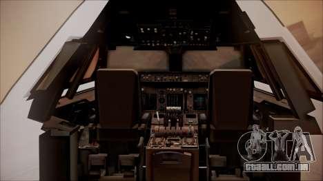 Boeing 747-200 Malaysia Airlines para GTA San Andreas vista interior