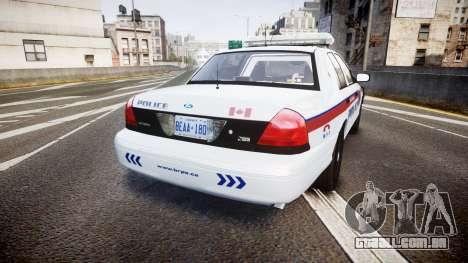 Ford Crown Victoria Bohan Police [ELS] para GTA 4 traseira esquerda vista