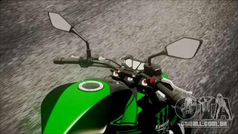 Kawasaki Z800 Monster Energy para GTA San Andreas vista traseira