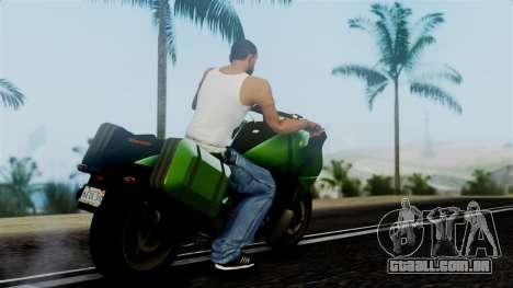 Dinka Vindicator GTA 5 Plate para GTA San Andreas esquerda vista