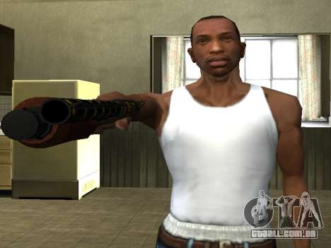 GTA 5 Sawed-Off Shotgun para GTA San Andreas terceira tela