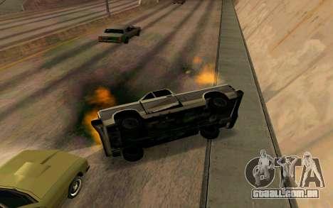 Burning car mod from GTA 4 para GTA San Andreas quinto tela