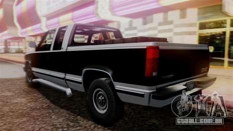 GMC Sierra 2500 Extended Cab 1992 para GTA San Andreas esquerda vista