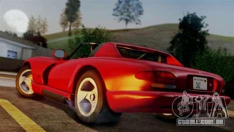 Dodge Viper RT 10 1992 para GTA San Andreas esquerda vista
