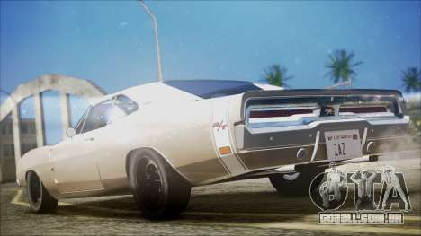 Dodge Charger RT 1969 para GTA San Andreas esquerda vista