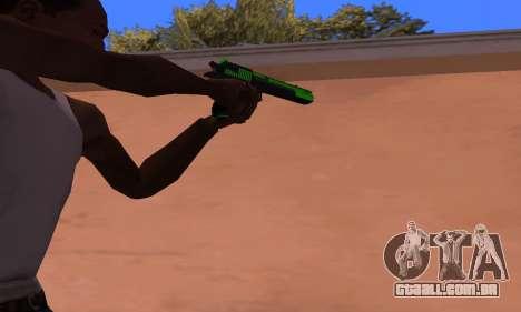 Deagle Green Style para GTA San Andreas segunda tela