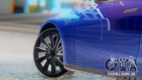 Tesla Model S para GTA San Andreas traseira esquerda vista