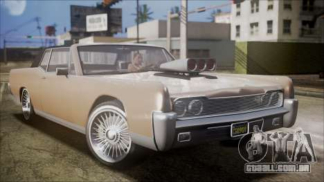 GTA 5 Vapid Chino IVF para GTA San Andreas traseira esquerda vista