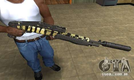Gold Lines Combat Shotgun para GTA San Andreas