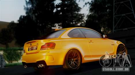 BMW 1M E82 v2 para GTA San Andreas vista superior
