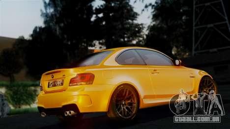 BMW 1M E82 v2 para GTA San Andreas vista superior