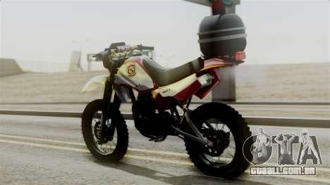 Yamaha DT 180 BM-RS para GTA San Andreas esquerda vista