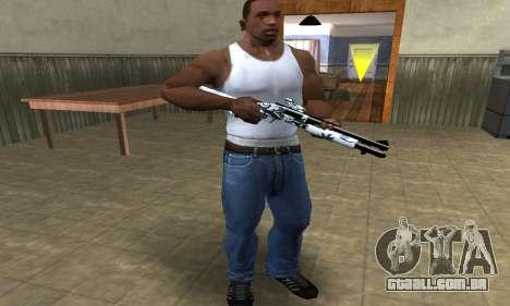 White Shotgun para GTA San Andreas terceira tela