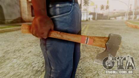 GTA 5 Hatchet v1 para GTA San Andreas terceira tela