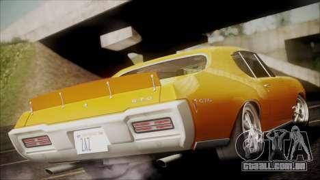 Pontiac GTO 1968 para GTA San Andreas esquerda vista