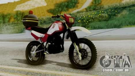 Yamaha DT 180 BM-RS para GTA San Andreas