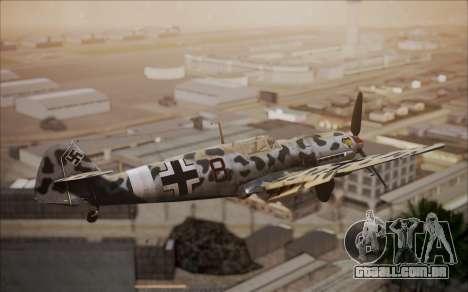 Messerschmitt BF-109 E3 para GTA San Andreas traseira esquerda vista