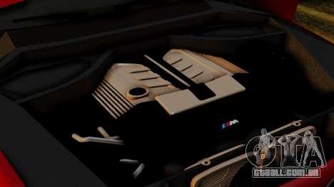 BMW 7 Series F02 2013 para GTA San Andreas vista inferior