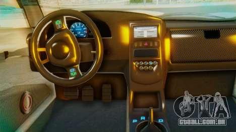 GTA 5 Pegassi Osiris IVF para GTA San Andreas vista interior