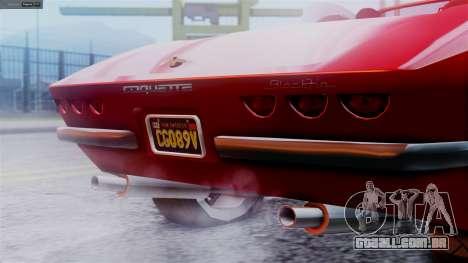 GTA 5 Invetero Coquette BlackFin IVF para GTA San Andreas traseira esquerda vista