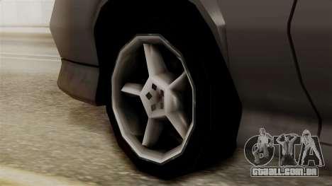 Buffalo New Edition para GTA San Andreas traseira esquerda vista