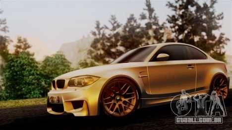 BMW 1M E82 v2 para GTA San Andreas vista traseira