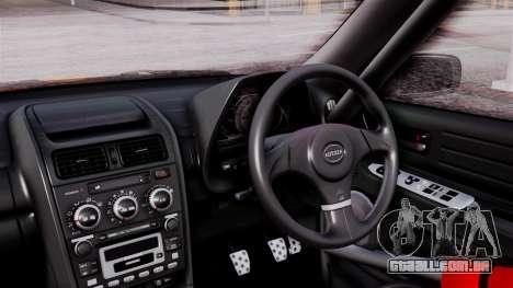 Toyota Altezza para GTA San Andreas vista traseira