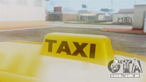 Stratum Taxi para GTA San Andreas vista direita