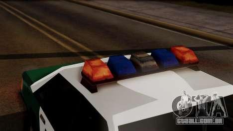 VCPD Cruiser para GTA San Andreas vista traseira