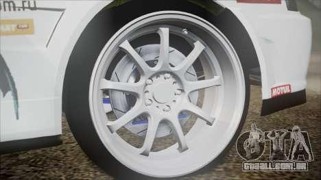 Nissan Skyline ER34 GT-Shop para GTA San Andreas traseira esquerda vista