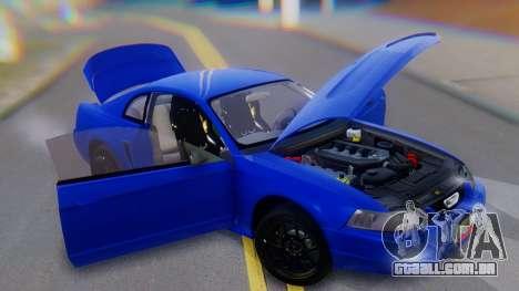 Ford Mustang 1999 Clean para GTA San Andreas vista inferior