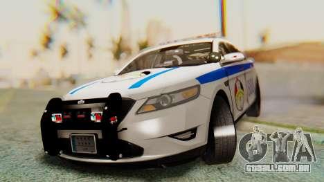 Ford Taurus Iraq Police v2 para GTA San Andreas