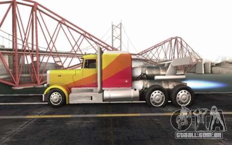 ShockWave Jet Truck para GTA San Andreas vista direita