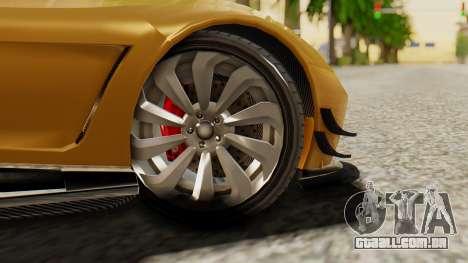 Pegassi Osyra Extra 2 para GTA San Andreas traseira esquerda vista