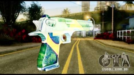 Brasileiro Desert Eagle para GTA San Andreas segunda tela